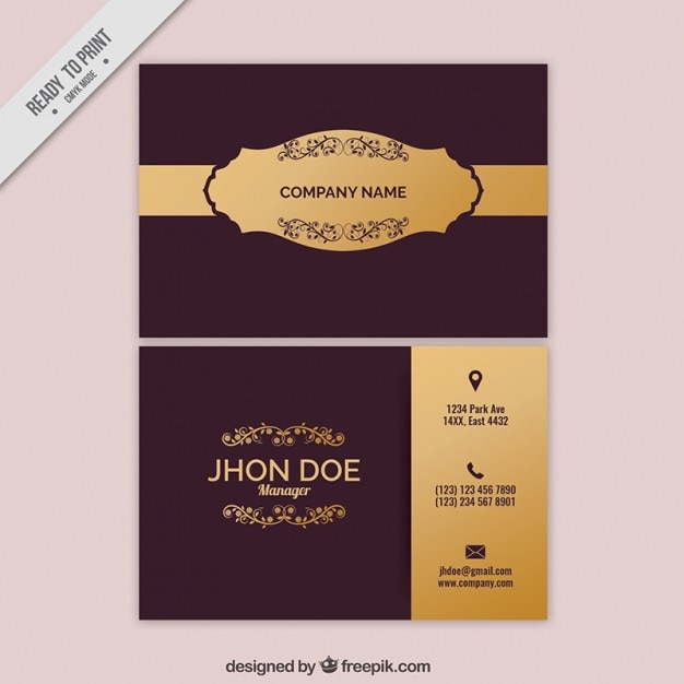 Stylish vintage business card vector free download stylish vintage business card free vector reheart Gallery