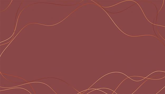 スタイリッシュな波状の黄金の光沢のあるラインの背景 無料ベクター