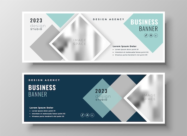 Stylish web business modern facebook cover or header template design Free Vector