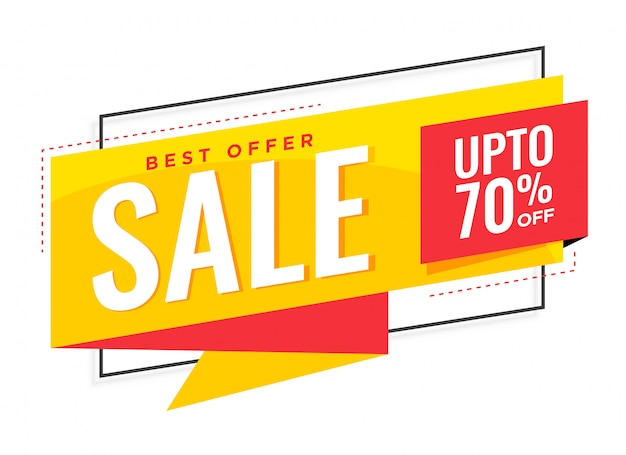 stylish yellow sale banner design Free Vector