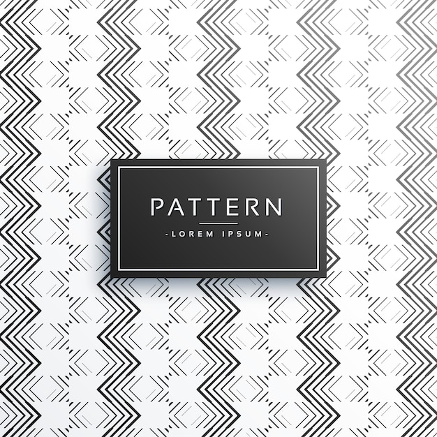 Stylish zigzag lines pattern background Free Vector