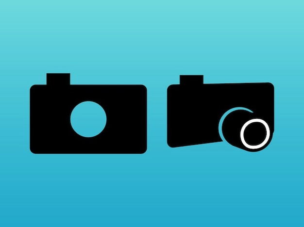Stylized cameras lens minimal design vector free download for Camera minimal