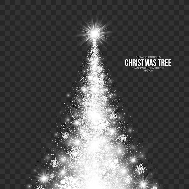 Stylized christmas tree on transparent background Premium Vector