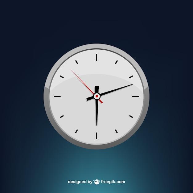 Stylized minimal clock face Free Vector
