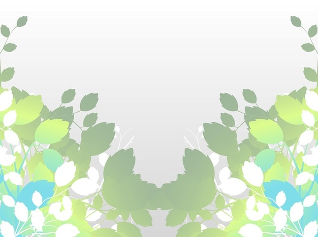 Stylized nature leaves vector\ illustration