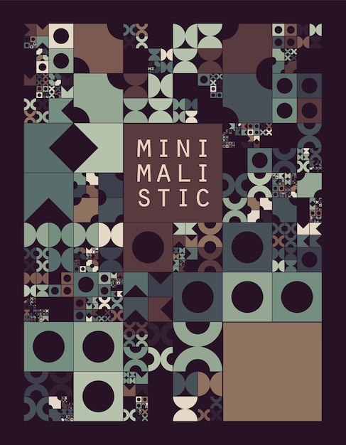 Subdivided grid system with symbols. randomly sized objects with fixed space between. futuristic minimalistic layout. conceptual generative background. procedural graphics. creative coding. Free Vector