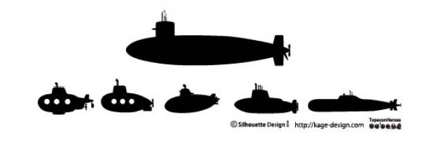 Submarines Free Vector