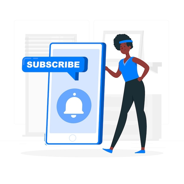 Subscriber concept illustration Free Vector
