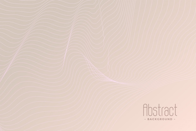 Subtle contour lines background design Free Vector