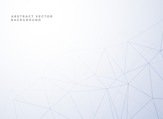 Subtle low poly line style white background Free Vector