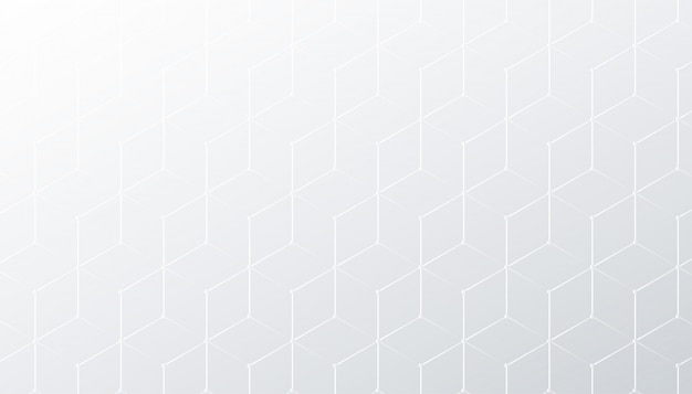 Subtle rombus white and gray pattern background Free Vector