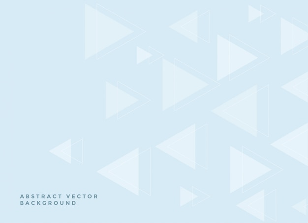Subtle triangles background in soft blue colors Free Vector