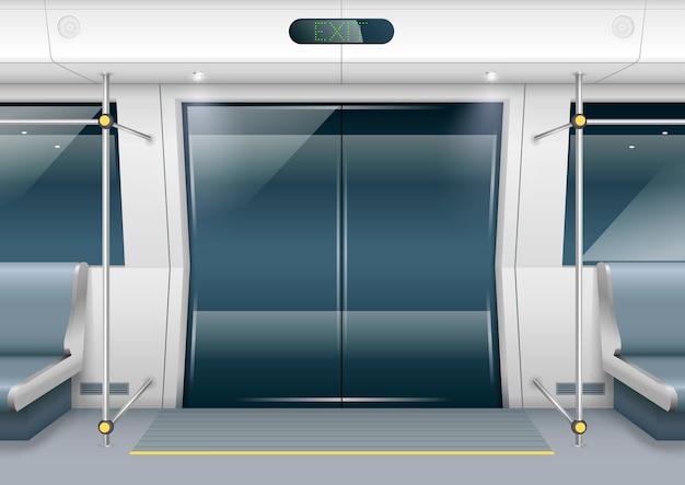 Subway car doors Premium Vector