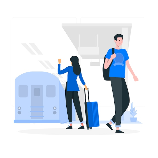 Subway concept illustration Free Vector
