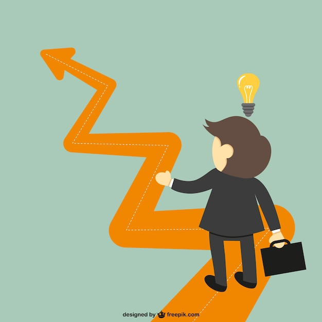 Succesful business idea Free Vector