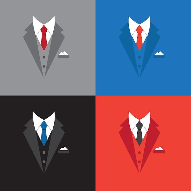 성공 리더 개념 그림, 평면 디자인 사업가 정장 무료 벡터