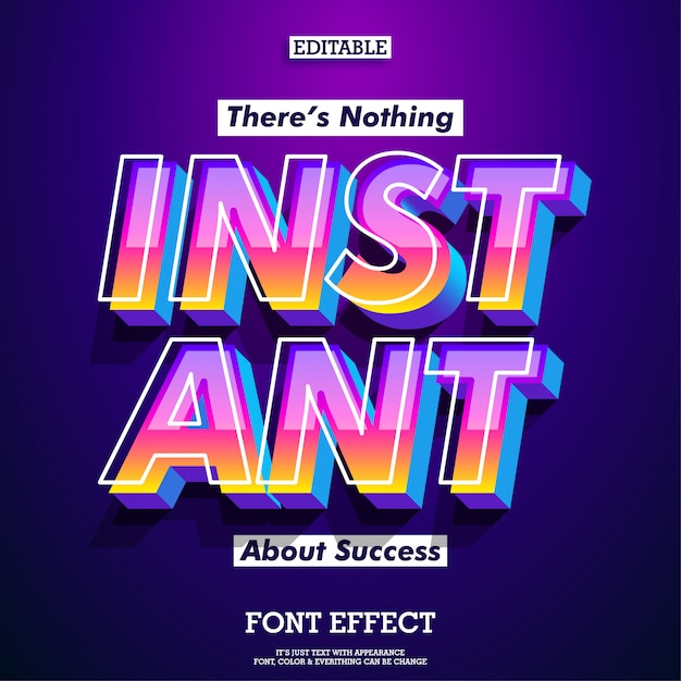 Success quote with modern and futuristic font with cool