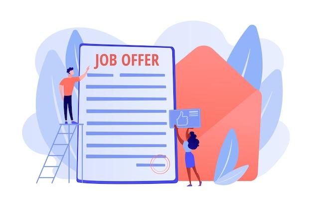 Успешная деловая сделка. наем сотрудников, служба подбора персонала Бесплатные векторы