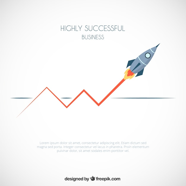 Successful business infographic Free Vector