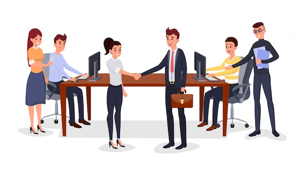 Successful business meeting Vector | Premium Download