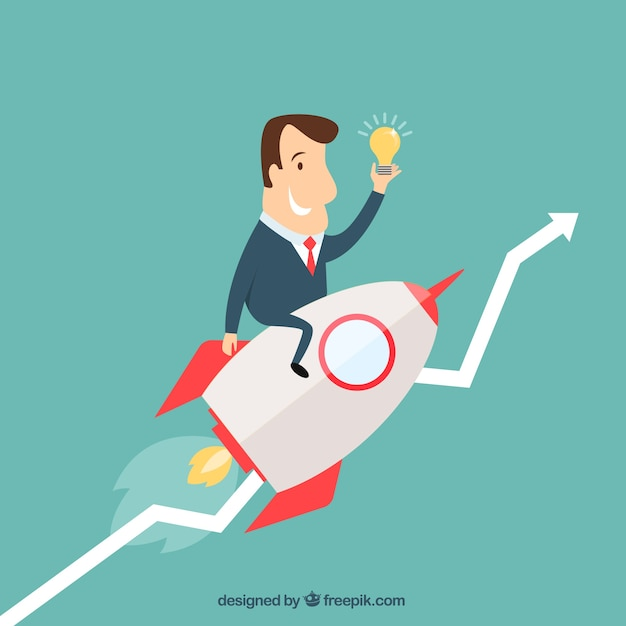Successful businessman Free Vector
