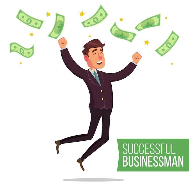 Successful businessman Premium Vector