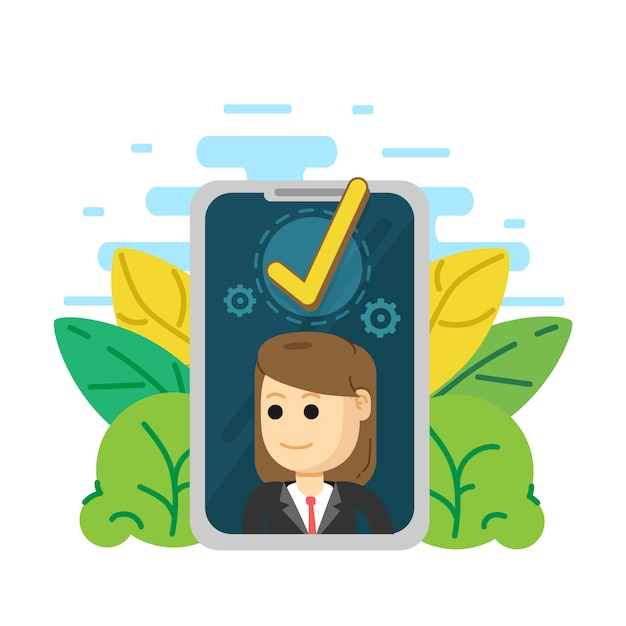 Successful completion of business, accepted, approve, Premium Vector