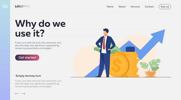 Successful entrepreneur or investor presenting stack of money Free Vector