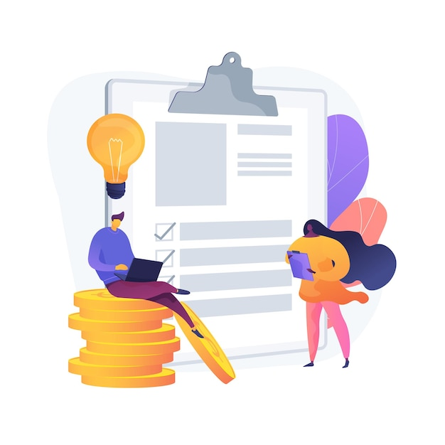 Successful financial operation. cash currency, money income, credit approval. savings insurance, finance contract. creative budget management. vector isolated concept metaphor illustration Free Vector