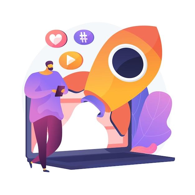 Успешный интернет-маркетинг. данные, приложения, электронные услуги, мультимедиа. социальная сеть любит и подписчиков привлекает красочный значок. Бесплатные векторы
