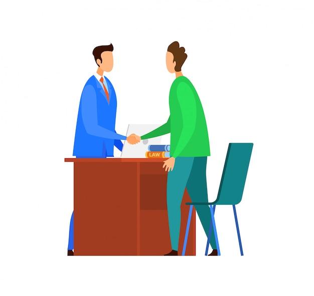 Successful negotiations, agreement illustration Premium Vector