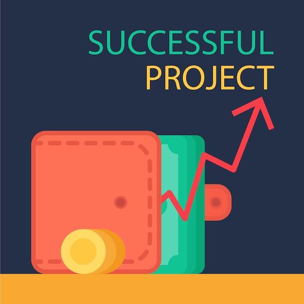 Successful project concept Premium Vector