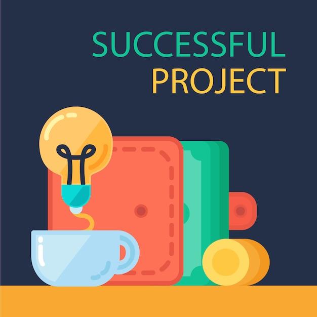 Successful project Premium Vector