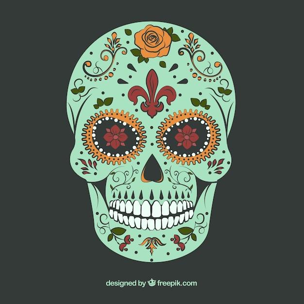 Sugar skull with ornamental decoration Vector | Free Download