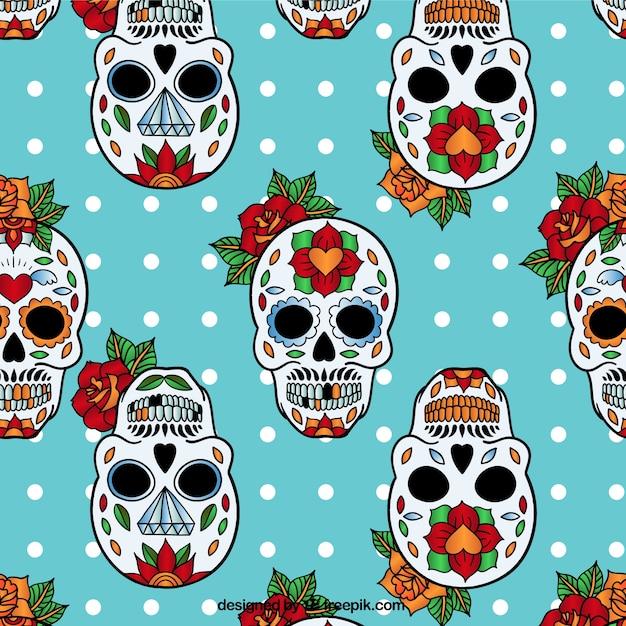 Sugar skulls pattern Vector | Free Download