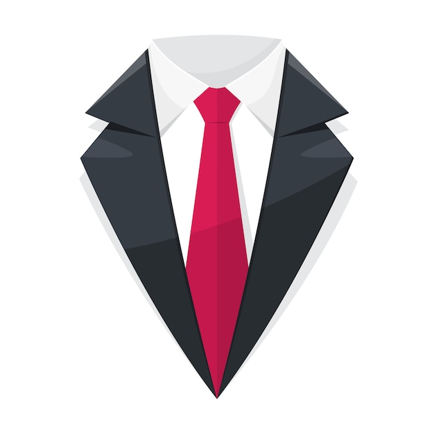 Suit logo. Premium Vector