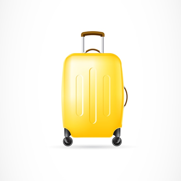 Suitcase on wheels Free Vector