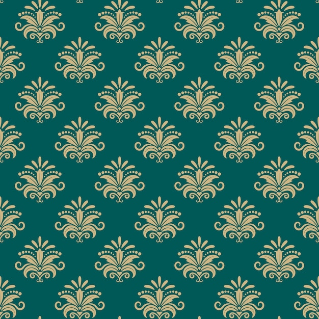 Sultan eastern seamless pattern, vector eastern floral background Free Vector