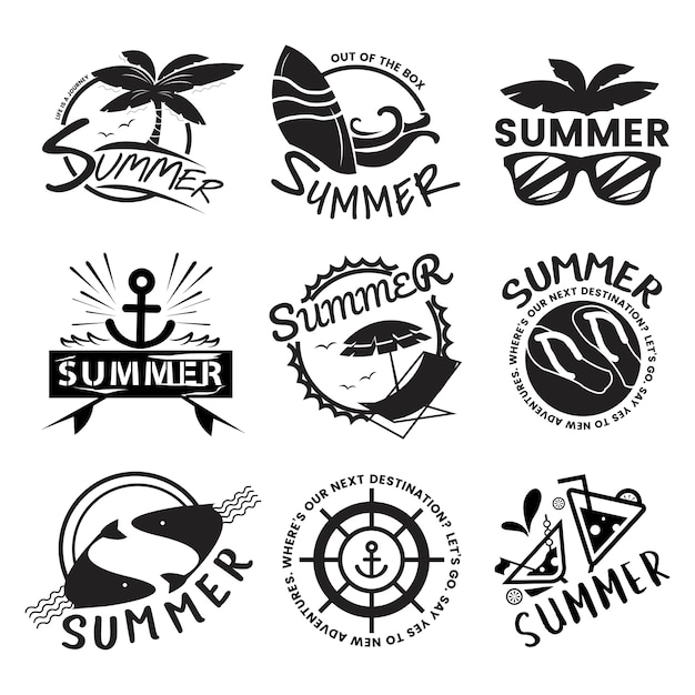 Summer and holiday typography illustration Free Vector
