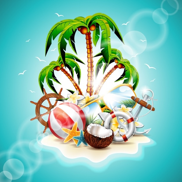 Summer background design Vector | Free Download