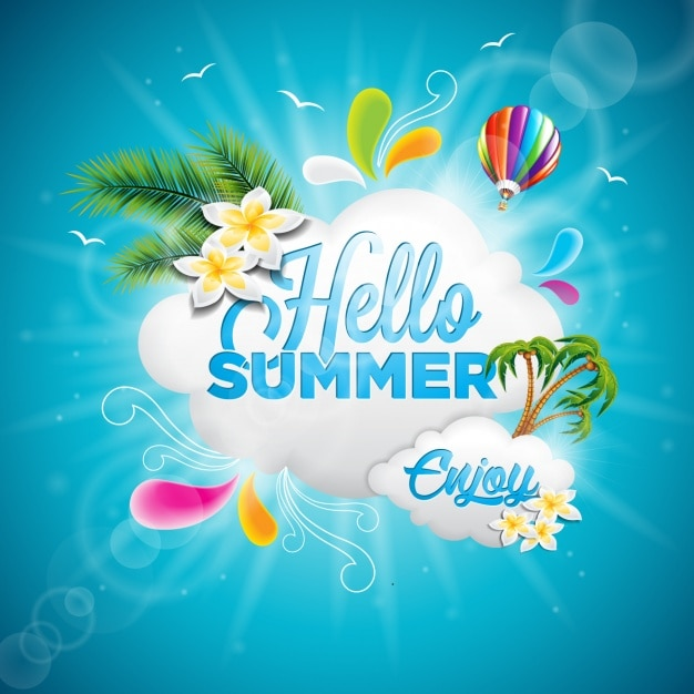 Summer background design Free Vector
