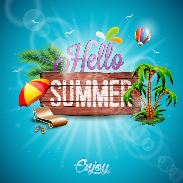 Summer background design | Free Vector