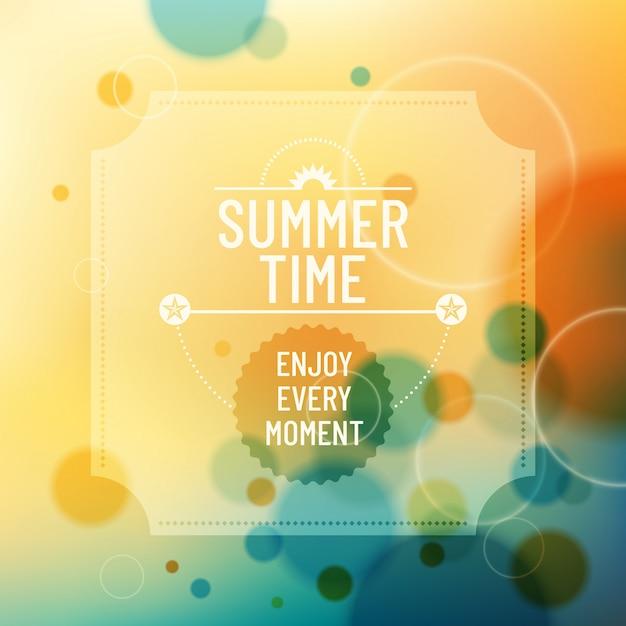 Summer background design Premium Vector