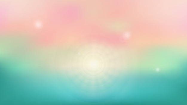 Summer background of seasonal beach place with sun shine. Premium Vector