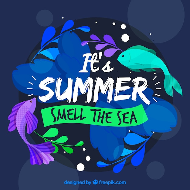 Summer background with colors Free Vector