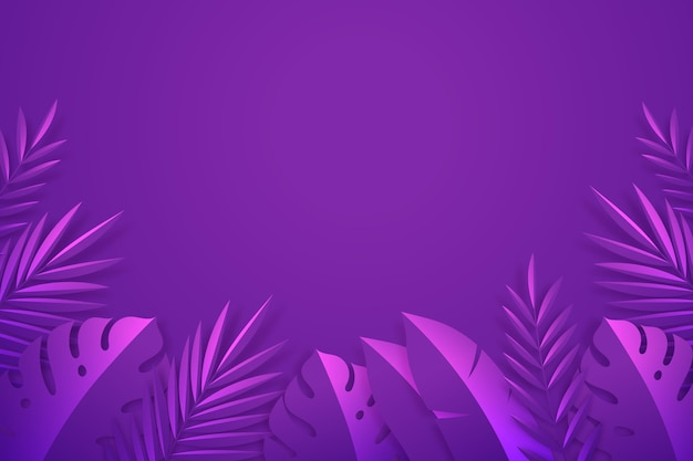 Summer background with leaves in paper style Free Vector
