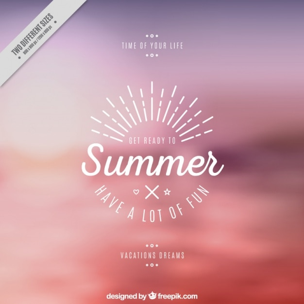 Summer background with a nice quote Free Vector