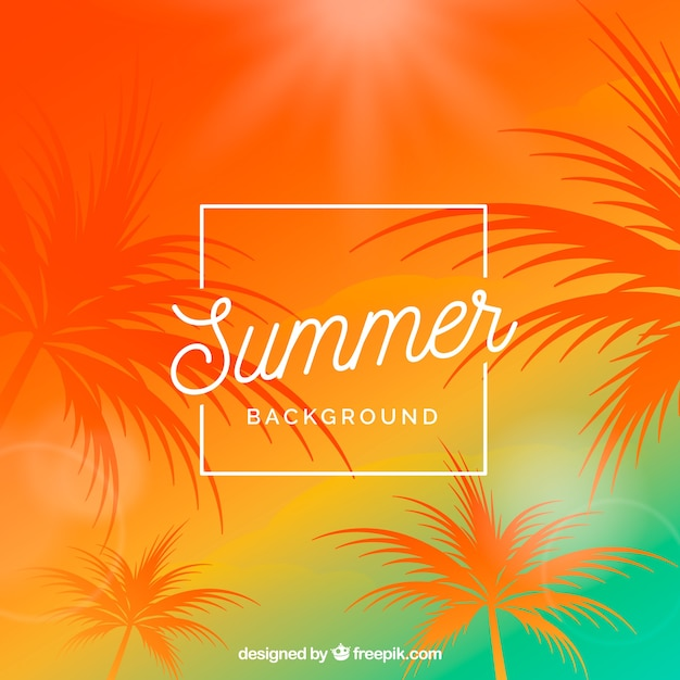 Summer background with warm colors Free Vector