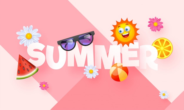 Summer background. Premium Vector