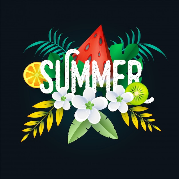 Summer background. Premium Vector